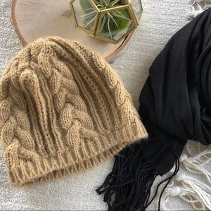 Camel Brown Knit Cap